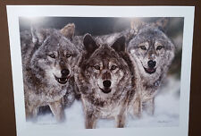 JUDY LARSON, The Pursued, Wolf Wolves Pack S/N Camouflage Print