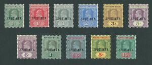 Northern Nigeria 1910 King Edward VII Specimen set SG28-39