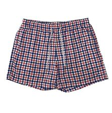 Souther Tide Swim Trunks Men's XL Blue Pink Plaid Shorts