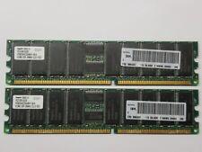 Hynix 1GB 2X512MB DDR2 PC2100R-25330 266MHZ CL2.5 ECC HYMD264G726A4M-H AA-A