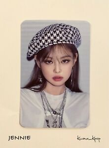 JENNIE BLACKPINK THE ALBUM 1ST FULL ALBUM PREORDER BENEFITS OFFICIAL PHOTO CARD