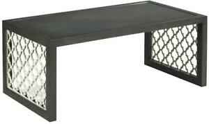 COCKTAIL TABLE WOODBRIDGE JEAN ROYERE FRENCH MODERN CHARCOAL GRAY WHITE