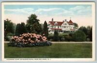 RED BANK NEW JERSEY*NJ*A SUMMER HOME ON RUMSON ROAD*1920's ERA VINTAGE POSTCARD