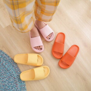 Women Men Super Soft Home Slippers Unisex Non-slip Bathing Platform Shoes