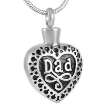 Urn Necklace Dad Heart Cremation Pendant Keepsake Jewelry for Ashes