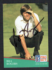 Bill Rogers signed autograph auto 1991 Pro Set Golf Trading Card No. 7