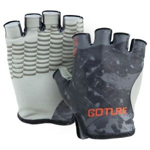 Non-Slip Fishing Gloves Sun Protection Half Finger Gloves Outdoor Sports Gray