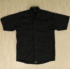 Blackhawk Warrior Wear Black Shirt Men's Size S Short Sleeve Button Up Front