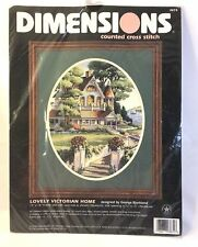 Dimensions Lovely Victorian Home 3874 Counted Cross Stitch Kit House 15x18