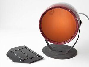 Kodak Darkroom Safelight Lamp Model B w/ Orange Filter & Wall Mount Plate