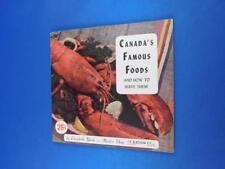 CANADAS FAMOUS FOODS AND HOW TO SERVE THEM RECIPE COOK BOOK EATONS ADVERTISING