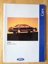 FORD CARS 1991/06 UK Mkt Prestige Brochure - Fiesta XR2i, Escort Cabrio Granada
