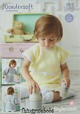 STYLECRAFT 9324 WONDERSOFT DK DRESS/TUNIC ORIGINAL CROCHET PATTERN - 0-3 YEARS