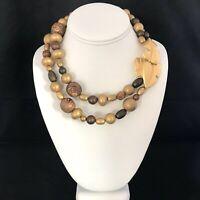 Vintage Givenchy Necklace Strand Brushed Gold Leaf Design RUNWAY Couture 14B
