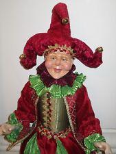 Katherine's Collection Renascence Jester Doll Wayne Kleski Figure Mardi Gras