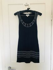 Alice Temperley For Target Knitted Dress Size XS Sleeveless Navy White Trim