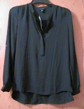 ANA A New Approach women's black long sleeve dressy shirt, nwt size XS