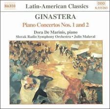 Ginastera: Piano Concertos Nos. 1 & 2 (CD, Naxos) Dora De Marinis, Malaval - LN