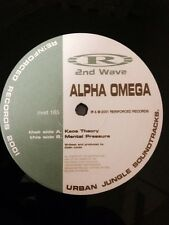 "Alpha Omega- Kaos Theory/ Mental Pressure 12"" Vinyl Drum and Bass Reinforced"