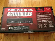 dbx 231-S Dual Channel 31 Band Graphic Equalizer - 2 Channel EQ 231S 231 S 231s