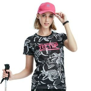 Women Anti UV T-Shirt Sportswear Slim Tops Outdoor Quick Dry Breathable T-shirt