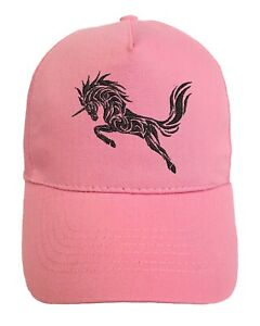 Unicorn Embroidered base ball cap hat with logo in 14 Colours