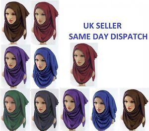 Winter neck head SCARF JERSEY stretchy hijab lycra maxi shawl wrap sarong 'Jersy