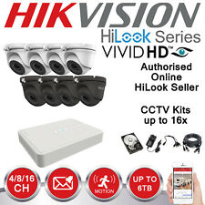 HIKVISION HILOOK CCTV SYSTEM HDMI DVR DOME NIGHT VISION OUTDOOR CAMERA FULL KIT