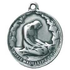 ST MARY MAGDALENE / RISEN CHRIST silver Medal, cast from antique French original