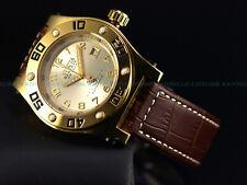 Rare Invicta 45mm Ltd.Ed Speedway Swiss Made Automatic 18KGIP Sapphire SS Watch
