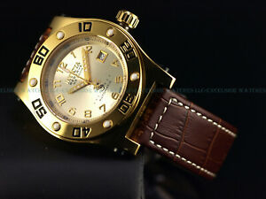 Rare Invicta 45mm Ltd.Ed Speedway Swiss Made Automatic 18KGIP Sapphire SS Watch