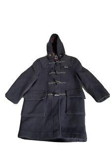 Kids Gloverall Black Duffle Coat Age 8