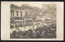 RP POSTCARD SIOUX FALLS SD/SOUTH DAKOTA WWI MILITARY PARADE & STORE FRONTS 1919?