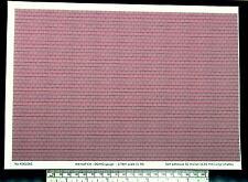 """OO/HO gauge (1:76 scale) """"red roof tile"""" self adhesive vinyl - A4 sheet"""