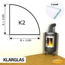 Kamin Glasbodenplatte Funkenschutz Kaminplatte Glas Ofen Platte Bodenplatte - K2