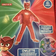 PJ Masks 2T Small Child Costume Owlette Toddler Red Dress Up New