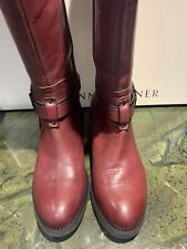 Etienne Aigner  Burgundy tall leather riding boot 7.1/2
