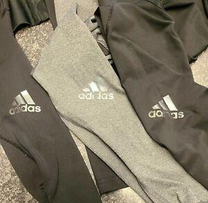 Three Pairs Ladies Adidas Techfit Leggings Size Xs 4-6 Black & Grey.