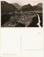Ansichtskarte Bad Reichenhall Luftbild Orts-Panorama und Berge 1934