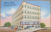 Atlantic City, NJ 1962 Linen Postcard: Borton Hotel - New Jersey
