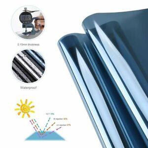 Mirrored Window Film Stickers Blue-Silver Anti UV Sun Heat Control Self Adhesive
