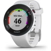 Garmin Forerunner 45 GPS Heart Rate Monitor Running Smartwatch (White)