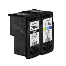 Canon Genuine 2PCS Pixma PG-210XL Black CL-211XL Tri-Color Fine Ink Cartriges