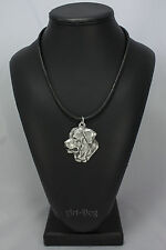 Tosa Inu, silver covered necklace, high qauality Art Dog