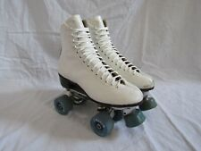 Vintage Riedell Red Wing Womens White Leather Roller Skates Size 7.5