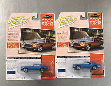 JOHNNY LIGHTNING 1970 1/2 COPO CHEVY CAMARO RS/Z28 COPO MUSCLE U.S.A. (LOT OF 2)