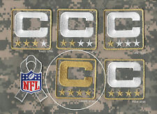 NFL TRIBUTE TO THE MILITARY CAMOUFLAGE CAPTAINS PATCH FOUR-STAR 4-STAR ⭐C-PATCH
