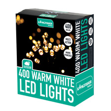 Christmas Outdoor & Indoor Lights, 400 LED Warm White Multi Action Mains Lights