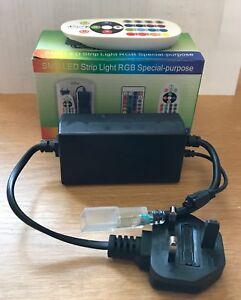 RGB  Power Controller for a 220V  LED Strip + IR Remote Control