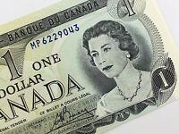 1973 Canada 1 One Dollar MP Prefix Uncirculated Elizabeth Canadian Banknote K875